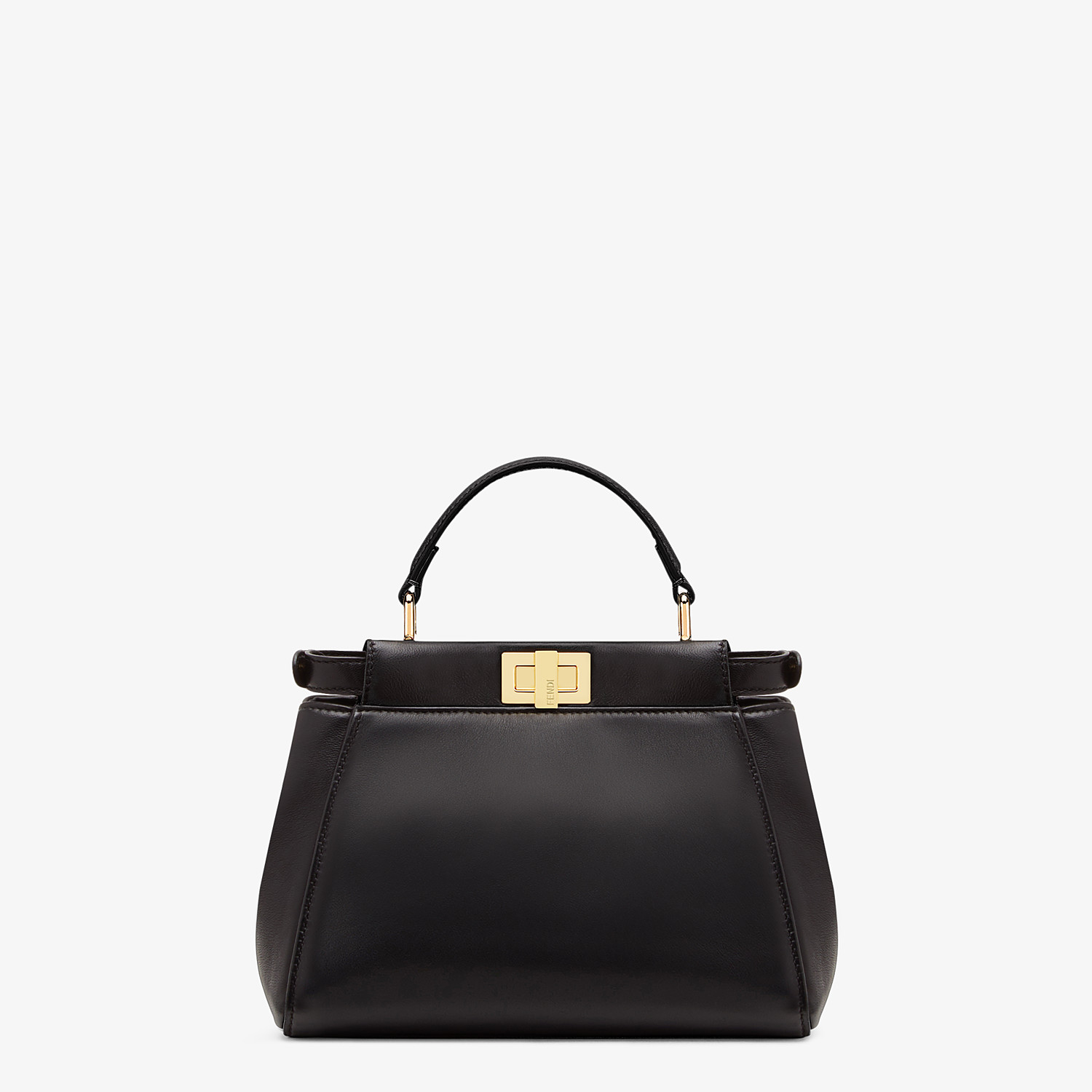 FENDI PEEKABOO ICONIC MINI - Black nappa leather bag - view 4 detail