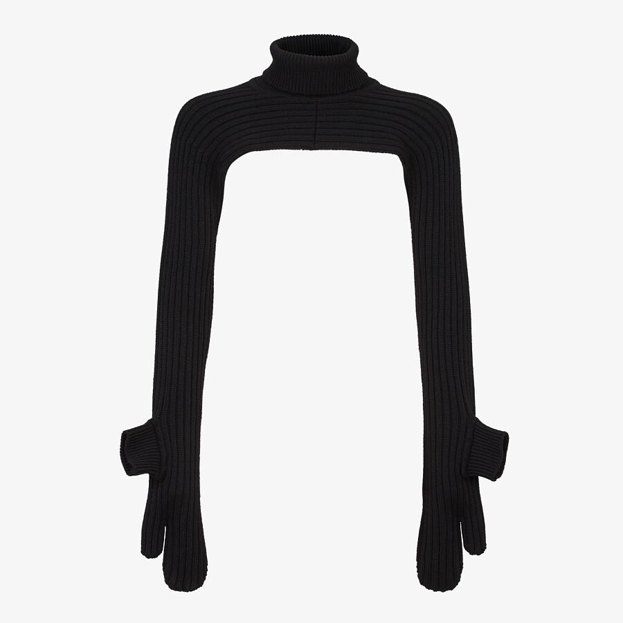FENDI Turtleneck - Black wool jumper - view 4 detail