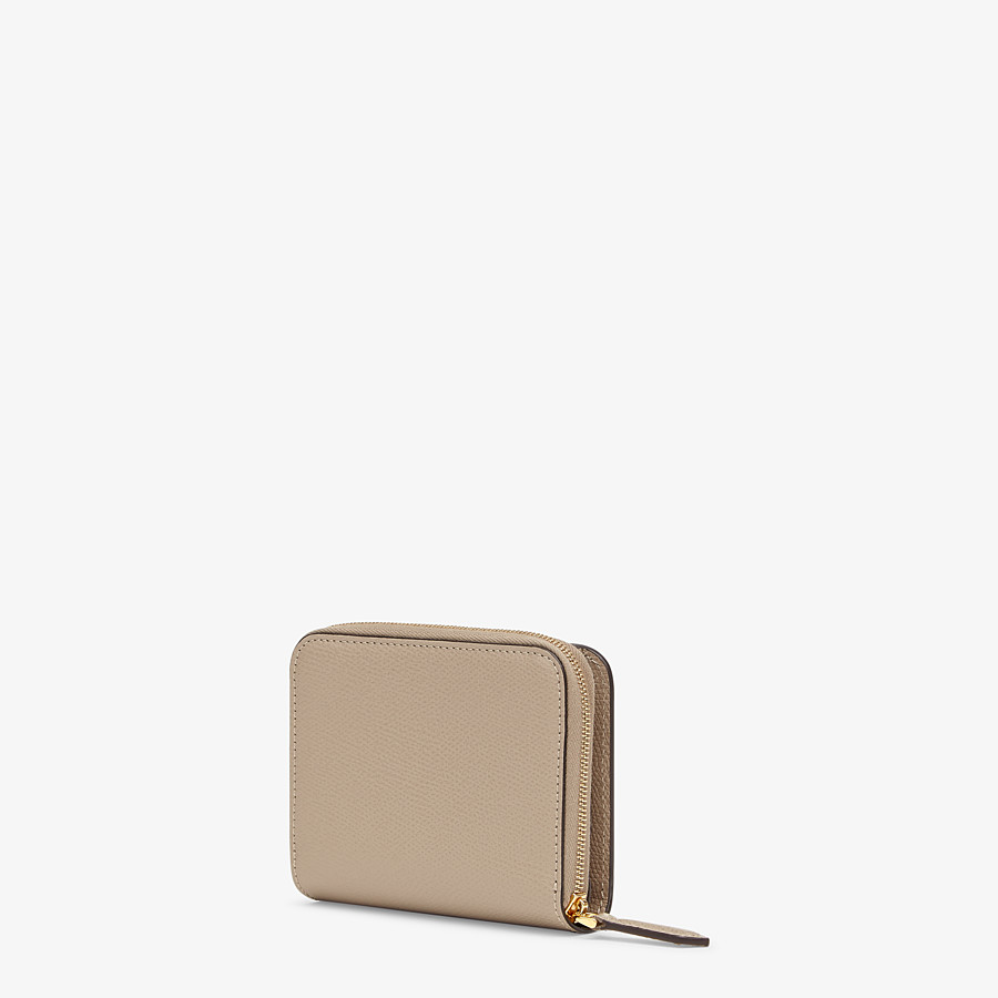 FENDI MEDIUM ZIP-AROUND - Beige leather wallet - view 2 detail