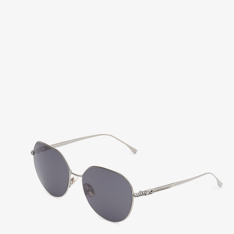 FENDI BAGUETTE - Ruthenium-colored sunglasses - view 2 detail