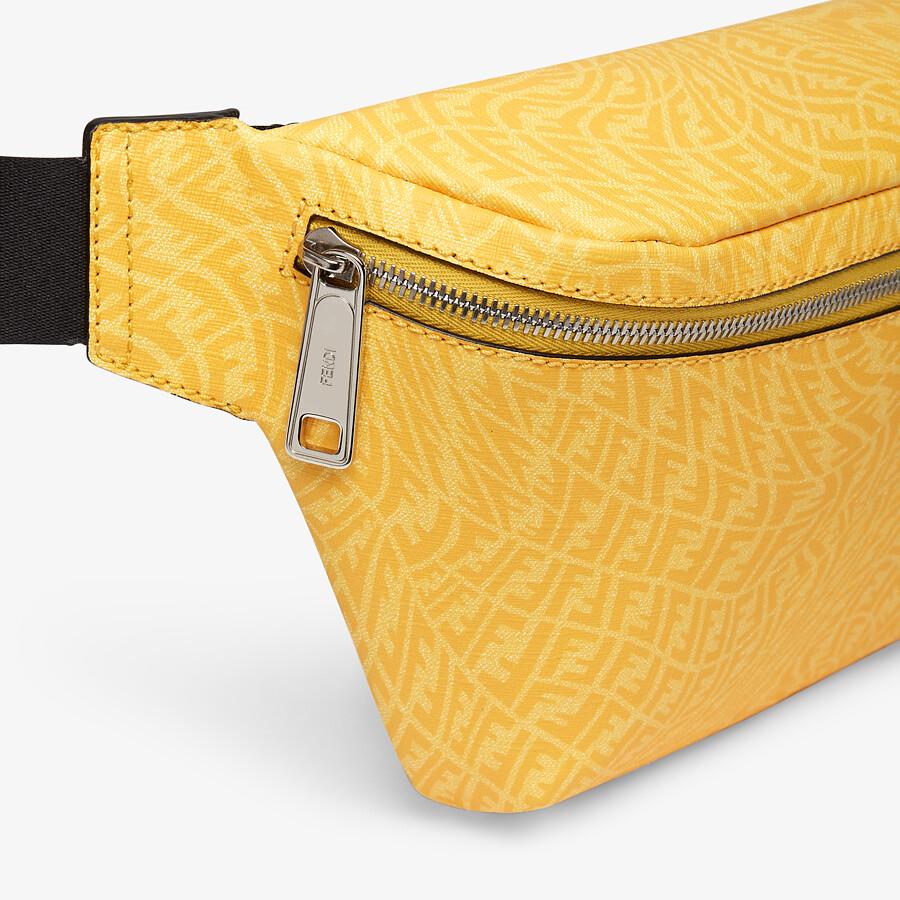 FENDI BELT BAG - Yellow fabric belt bag - view 5 detail