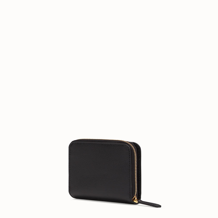 FENDI MEDIUM ZIP-AROUND - Black leather wallet - view 2 detail