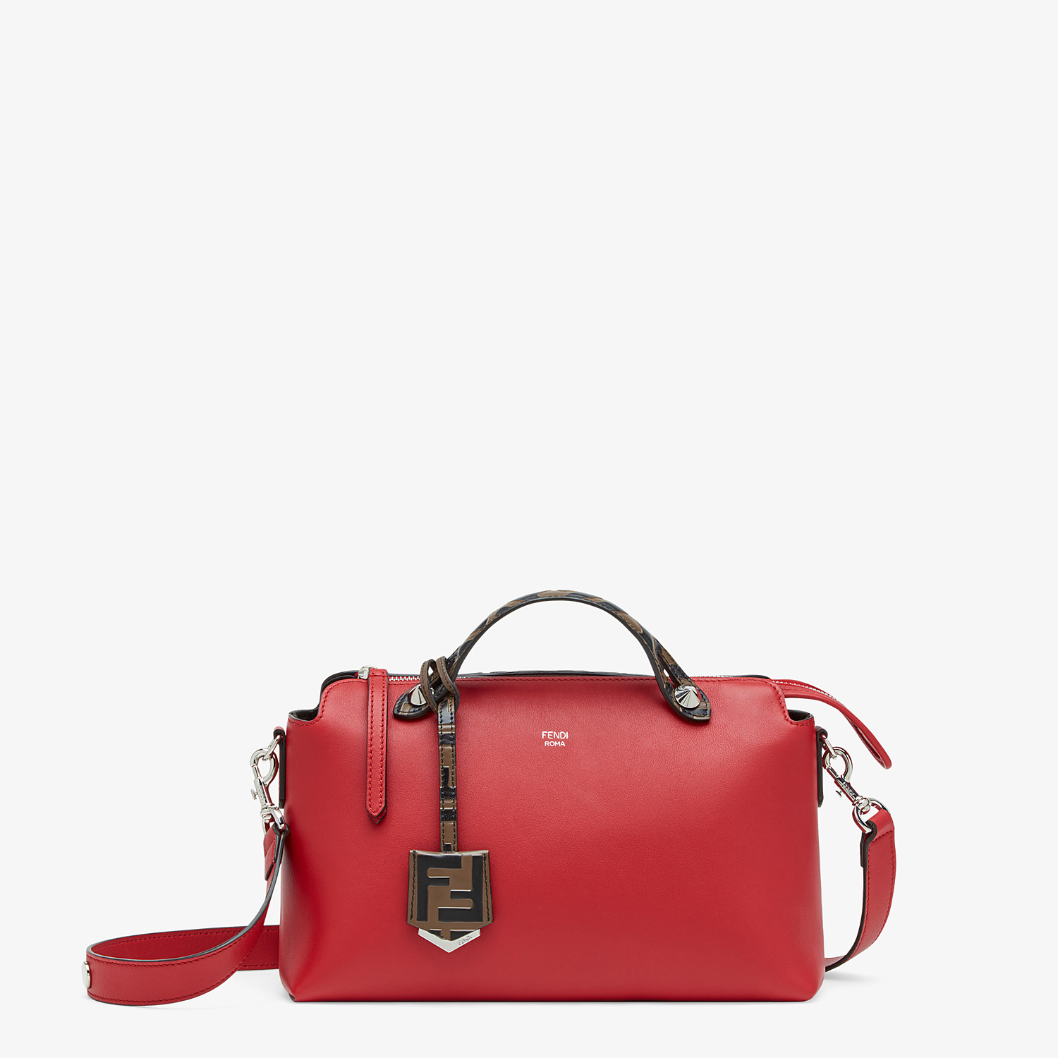 FENDI BY THE WAY MEDIUM - Red leather Boston bag - view 1 detail