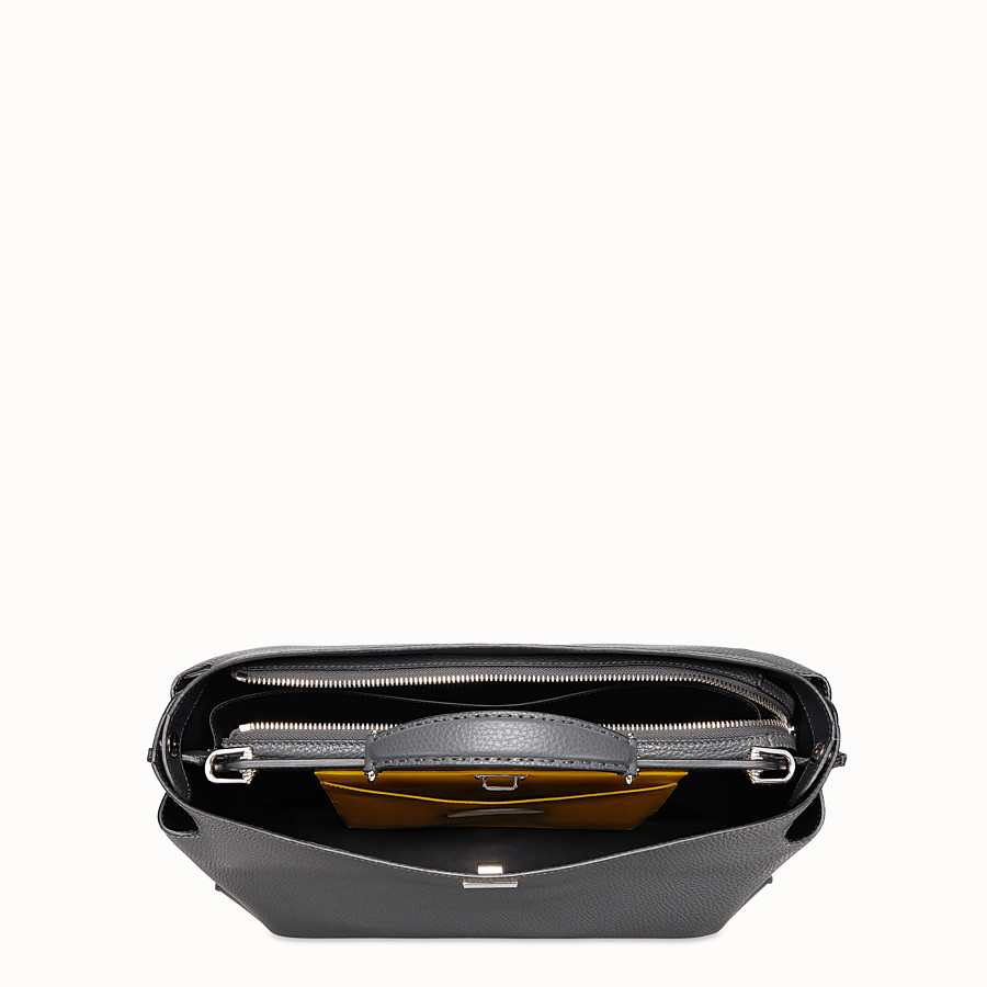 FENDI PEEKABOO ICONIC ESSENTIAL - Gray leather bag - view 4 detail