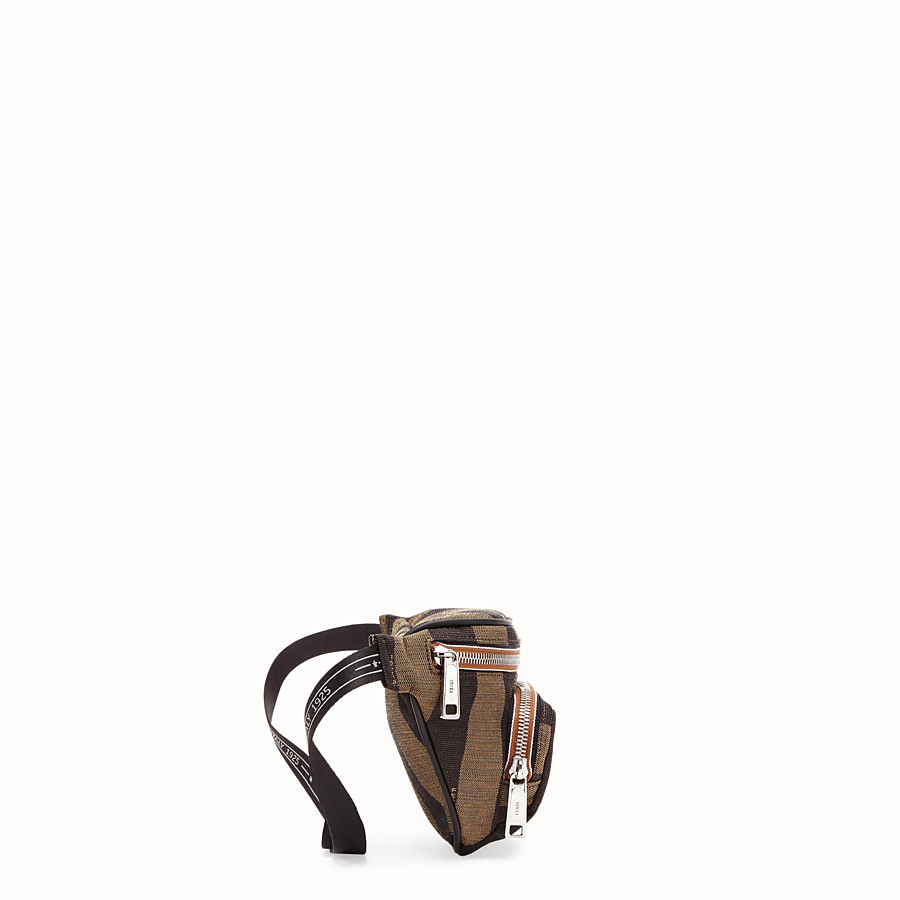 FENDI BELT BAG - Brown fabric belt bag - view 2 detail