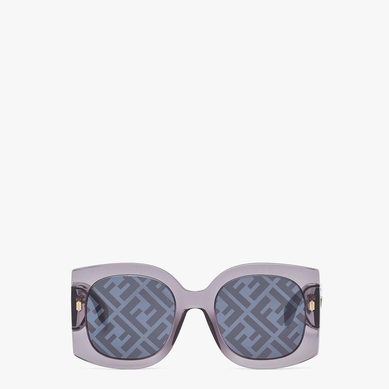 FENDI FENDI ROMA - Sunglasses in transparent gray acetate - view 1 detail