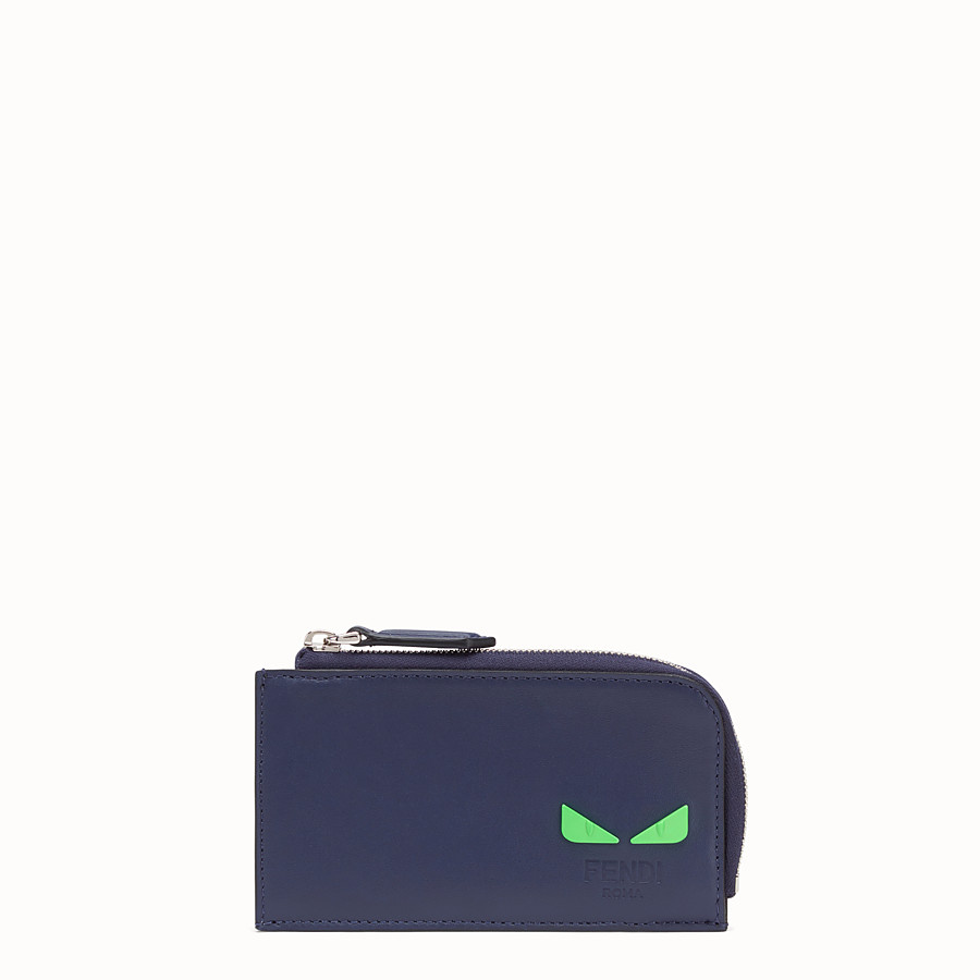 FENDI COIN PURSE - Blue leather pouch - view 1 detail