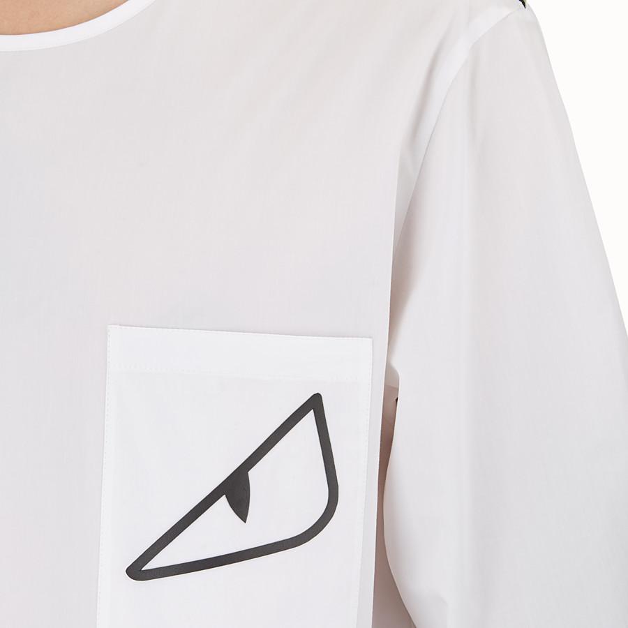 FENDI シャツ - ホワイトコットン シャツ - view 3 detail