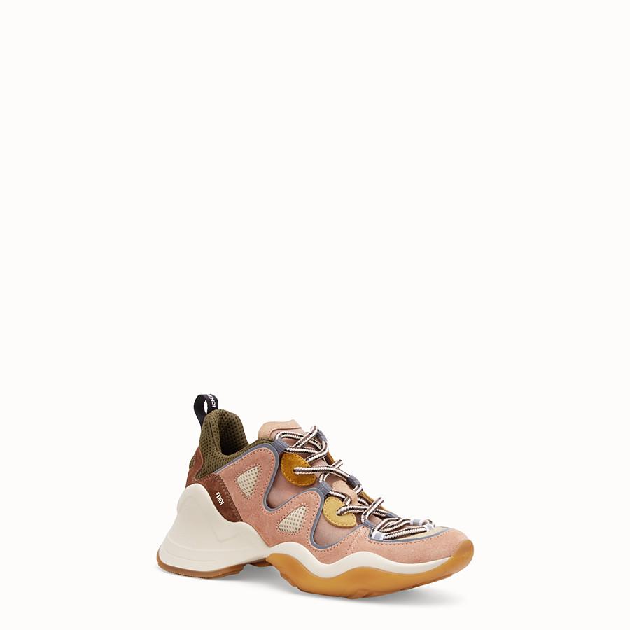 FENDI SNEAKER - Niedriger Sneaker aus Veloursleder in Rosa - view 2 detail