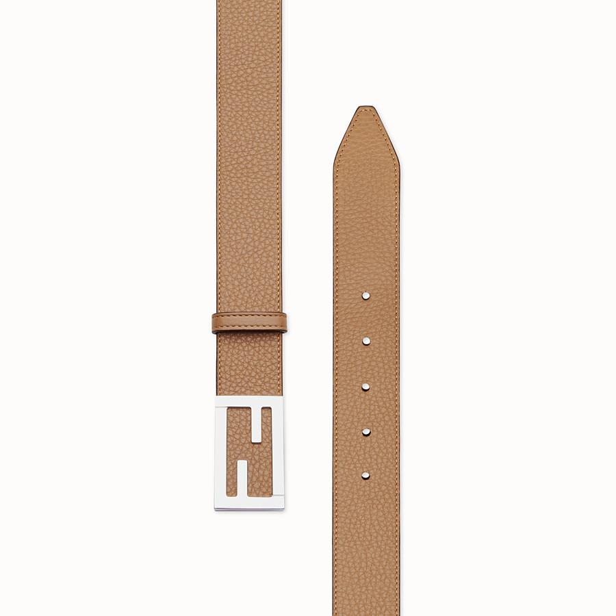 FENDI BELT - Beige leather belt - view 2 detail