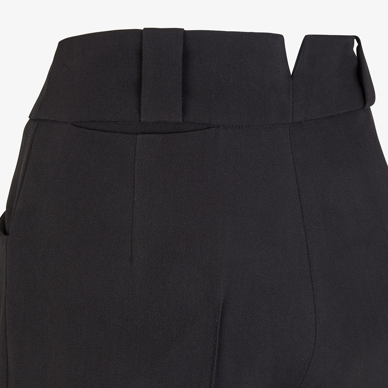 FENDI PANTS - Black viscose pants - view 3 detail