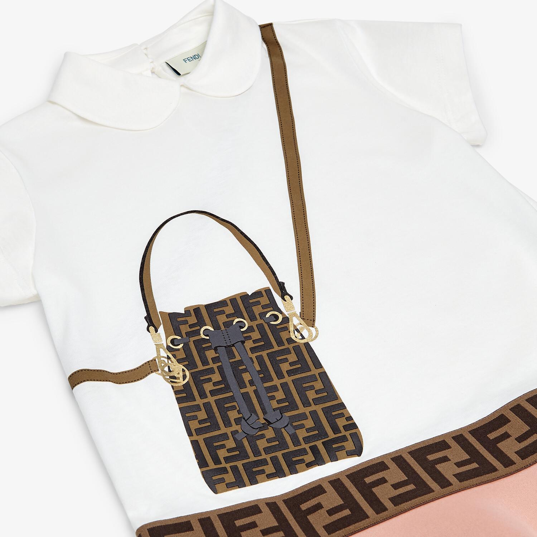 FENDI DRESS - Jersey and neoprene junior girl dress - view 3 detail