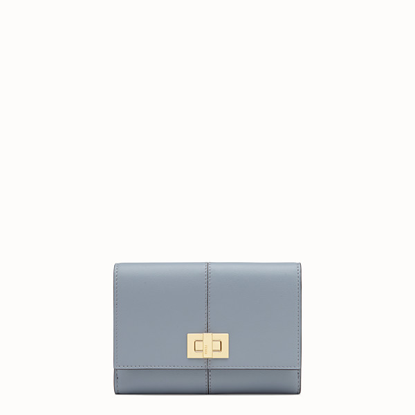 FENDI WALLET - Gray leather cardholder - view 1 small thumbnail
