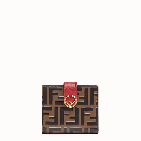 FENDI BIFOLD - Brown leather compact wallet - view 1 small thumbnail