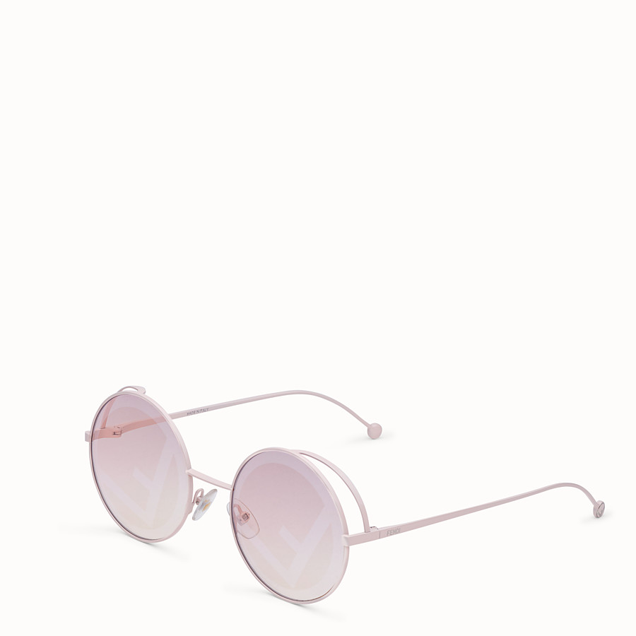 FENDI FENDIRAMA - Pink sunglasses - view 2 detail