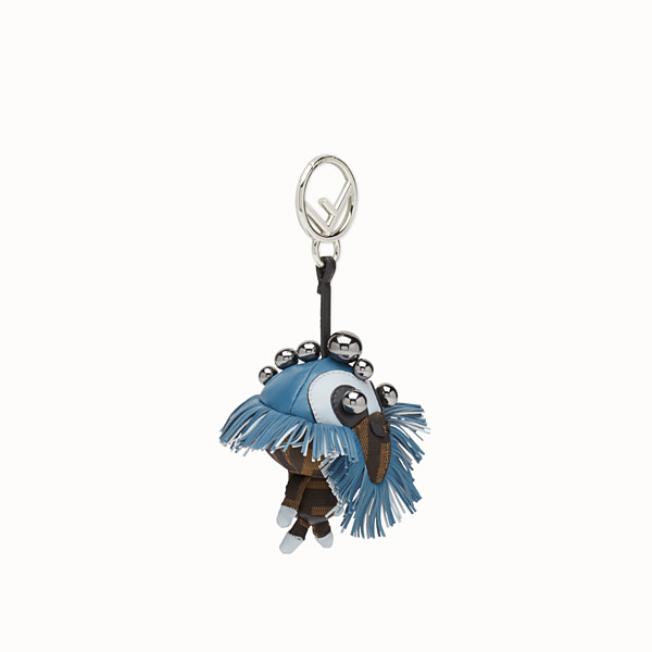 FENDI SPACE MONKEY - Multicolor leather and jacquard charm - view 1 small thumbnail