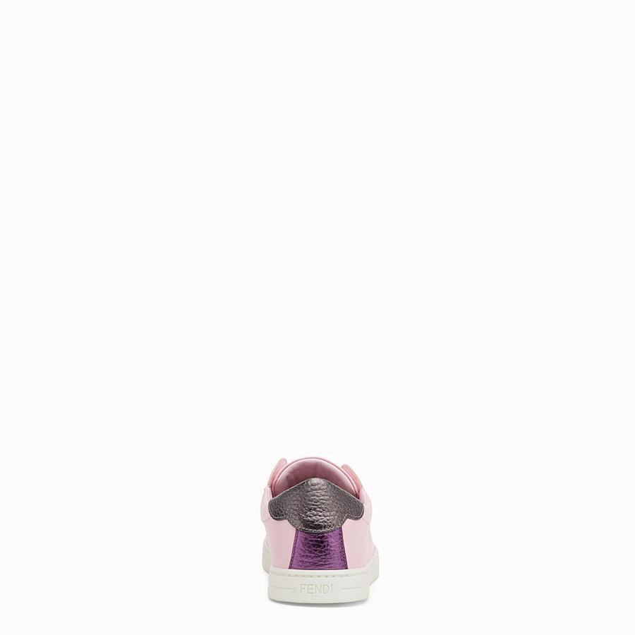 FENDI SNEAKER - Sneaker aus violettem Leder - view 3 detail