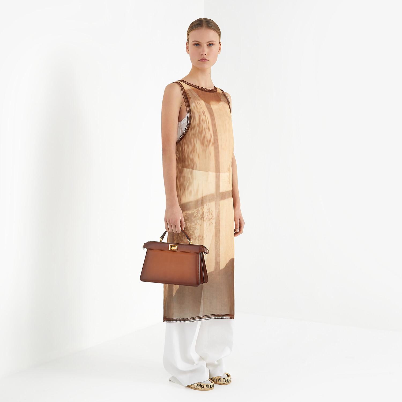 FENDI DRESS - Yellow silk dress - view 4 detail