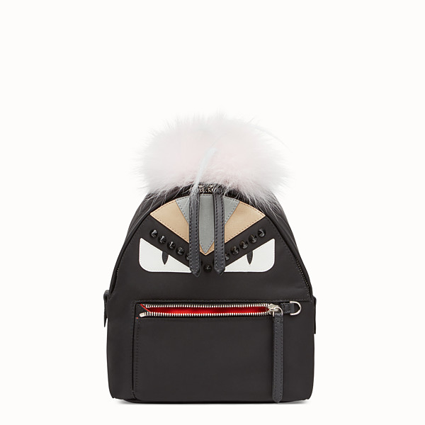 FENDI BACKPACK MINI - Small black fabric and leather backpack - view 1 small thumbnail