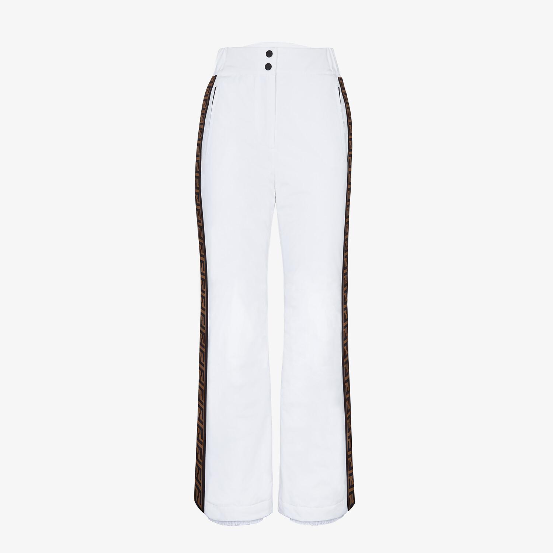 FENDI SKI PANTS - White tech nylon ski pants - view 1 detail