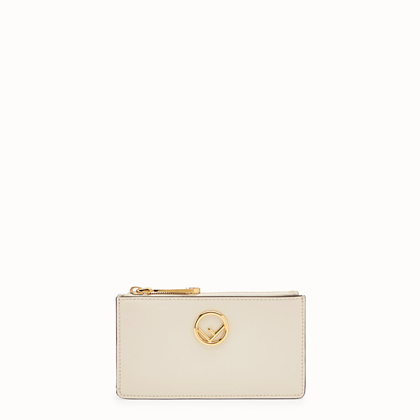 FENDI CARD POUCH - White leather pouch - view 1 small thumbnail