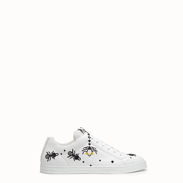 FENDI SNEAKERS - Chaussures basses en cuir blanc - view 1 small thumbnail