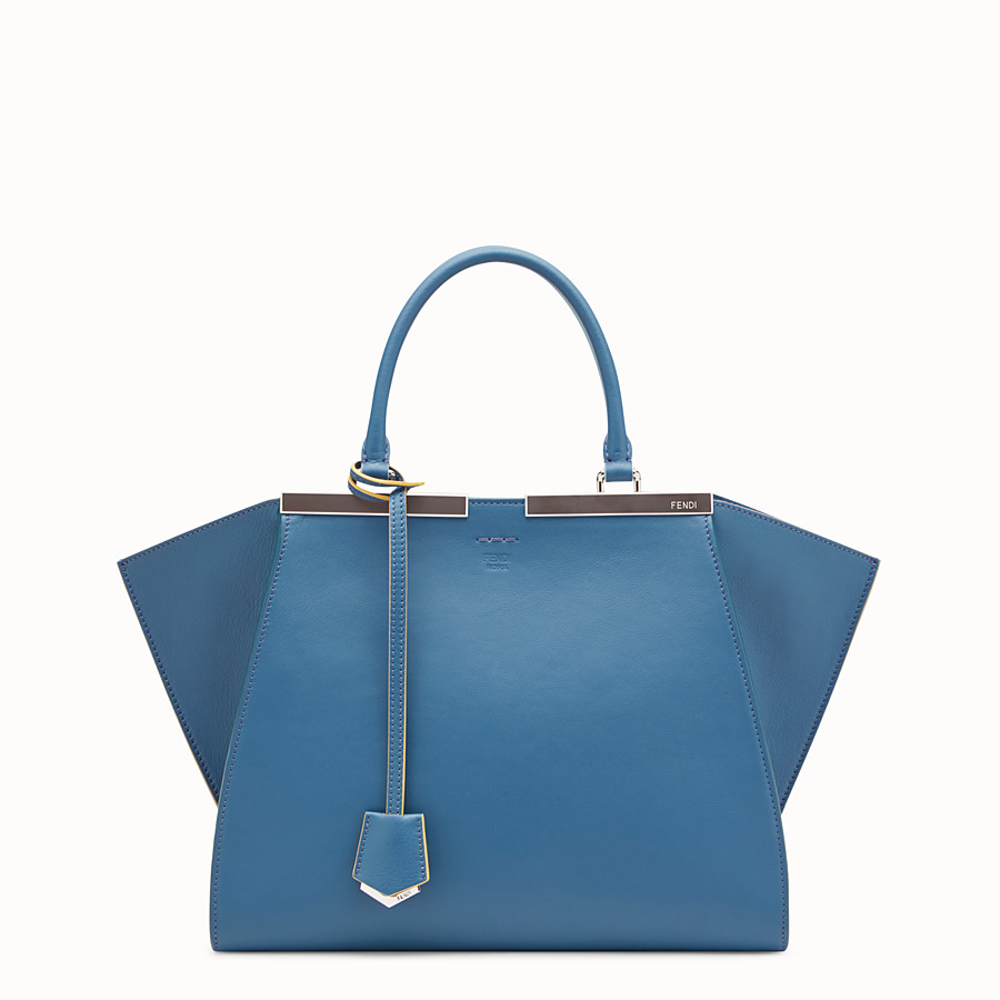 FENDI 3JOURS - Blue leather bag - view 1 detail
