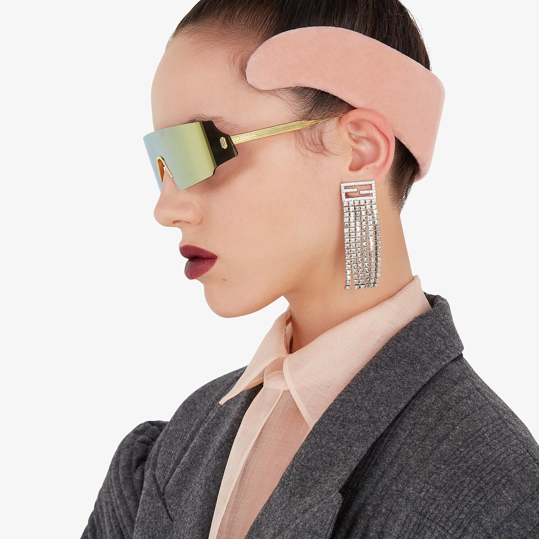 FENDI HEADBAND - Pink velvet headband - view 4 detail