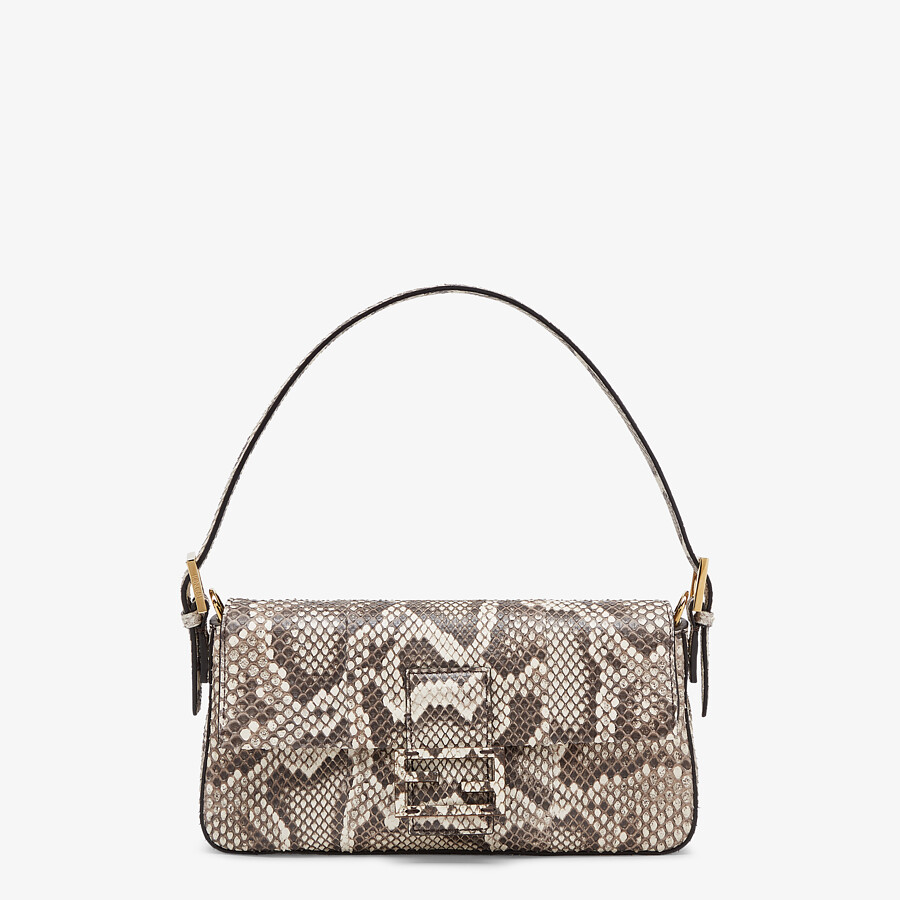 FENDI BAGUETTE 1997 - Natural python leather bag - view 1 detail
