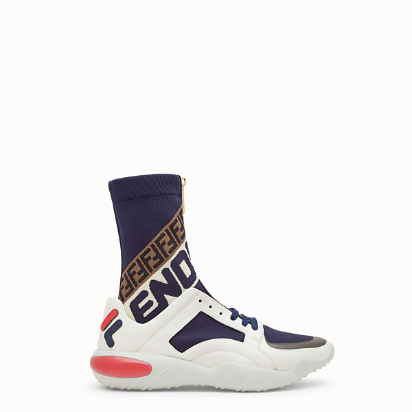 FENDI SNEAKER - High top in tessuto tecnico multicolor - vista 1 thumbnail piccola