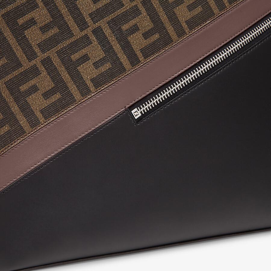 FENDI SHOPPING BAG - Brown fabric shopping bag - view 6 detail