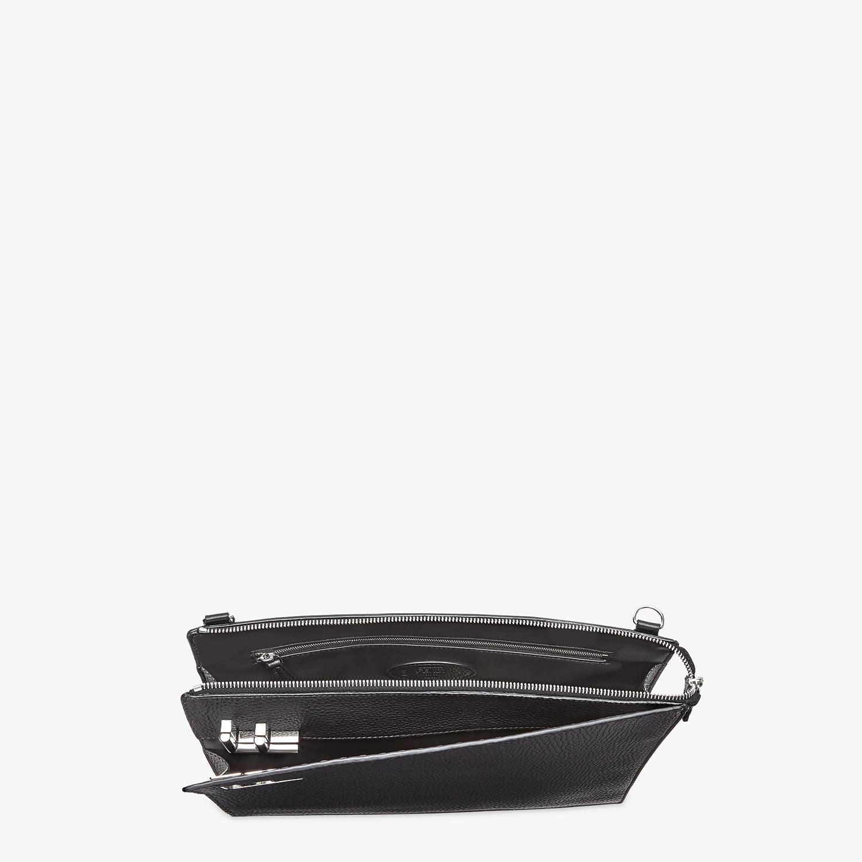 FENDI MESSENGER - Black leather bag - view 5 detail