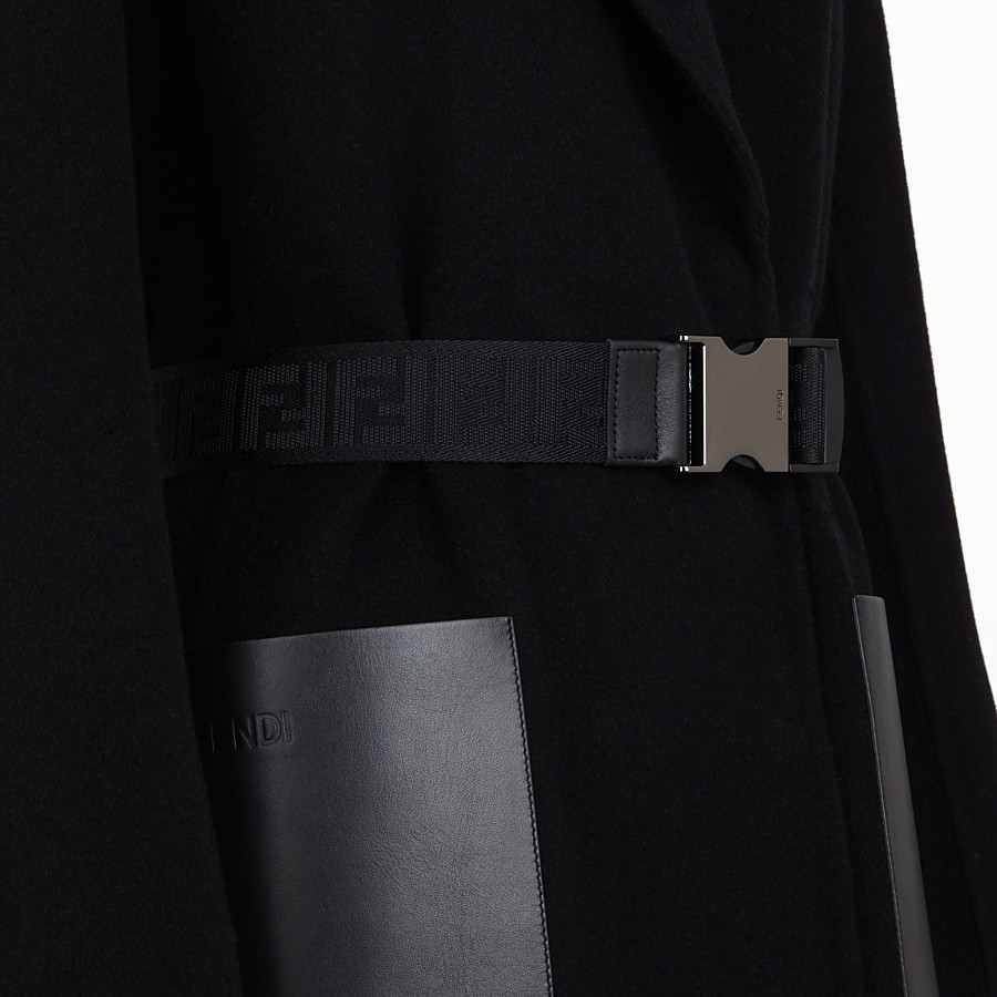 FENDI COAT - Black cashmere coat - view 3 detail