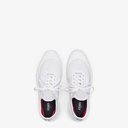 FENDI SNEAKERS - Sneaker aus technischem Netzgewebe in Weiß - view 4 thumbnail