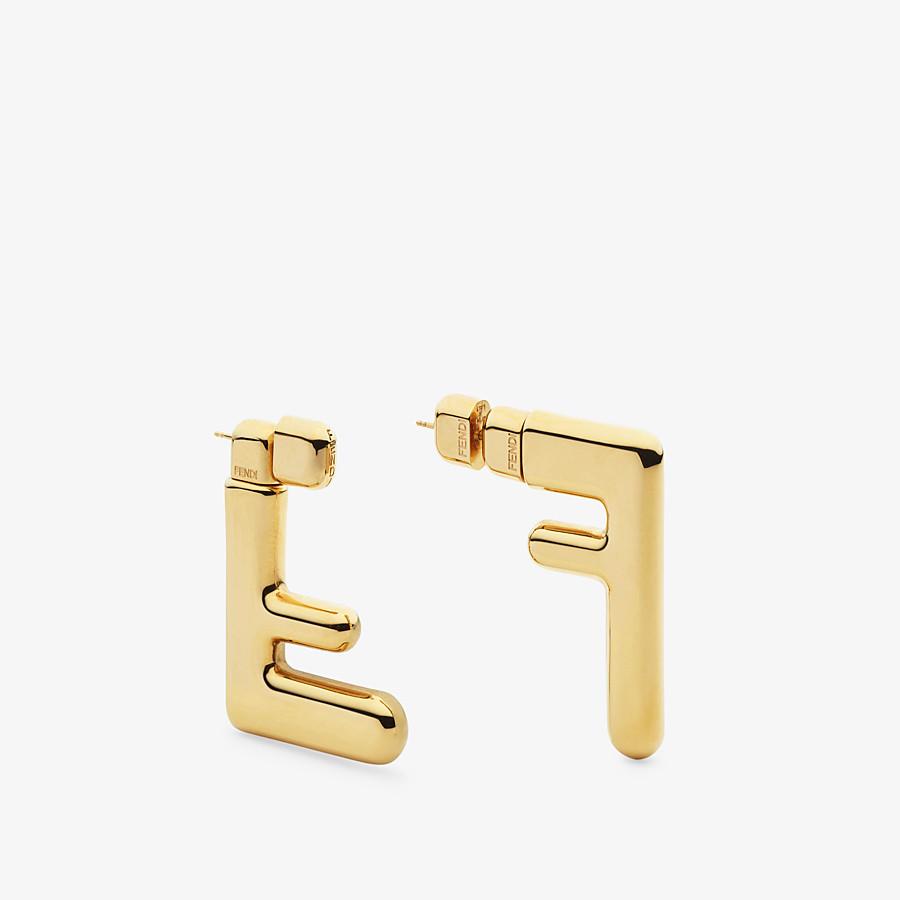 FENDI FF EARRINGS SMALL - Gold-colour earrings - view 2 detail