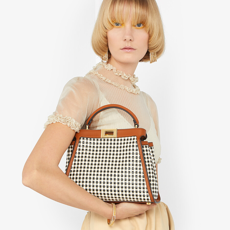FENDI PEEKABOO ICONIC ESSENTIALLY - Vichy interlace bag - view 2 detail