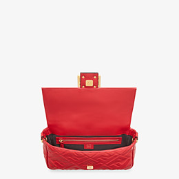 FENDI BAGUETTE - Red leather bag - view 5 thumbnail