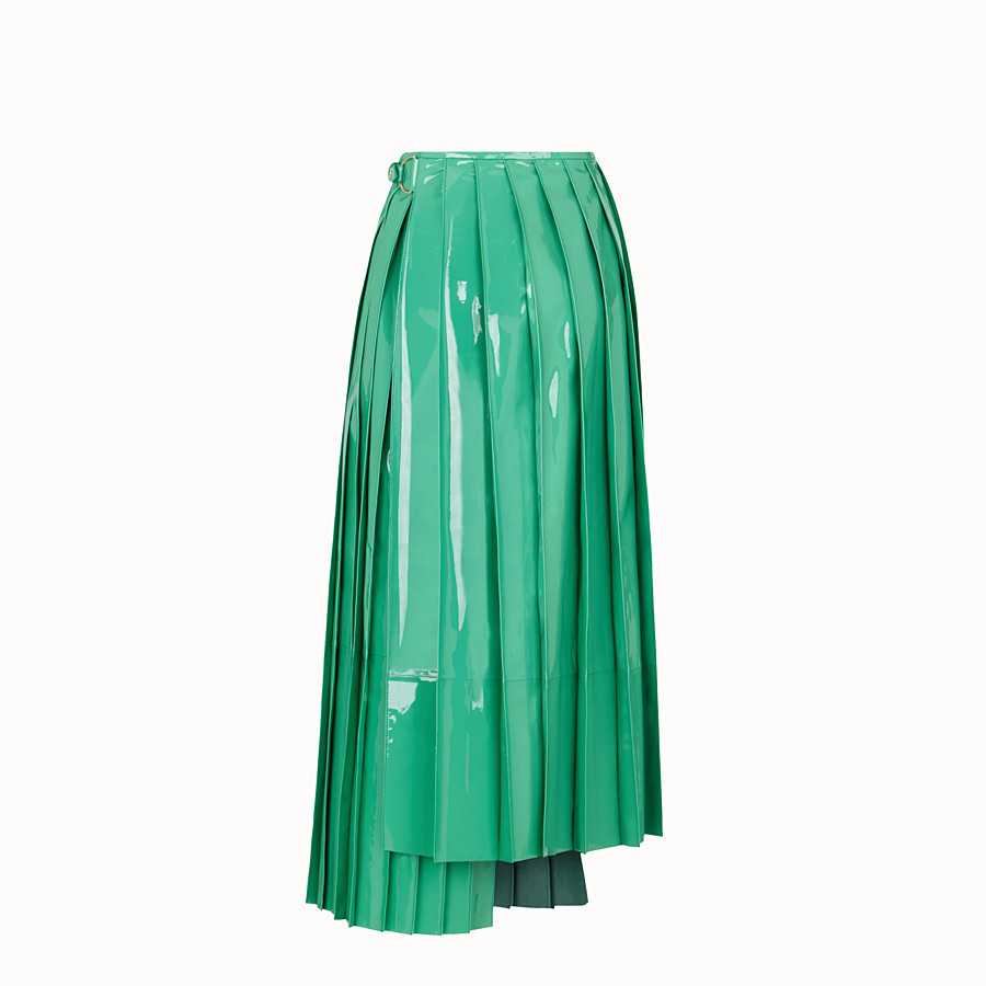 FENDI SKIRT - Green patent leather skirt - view 2 detail