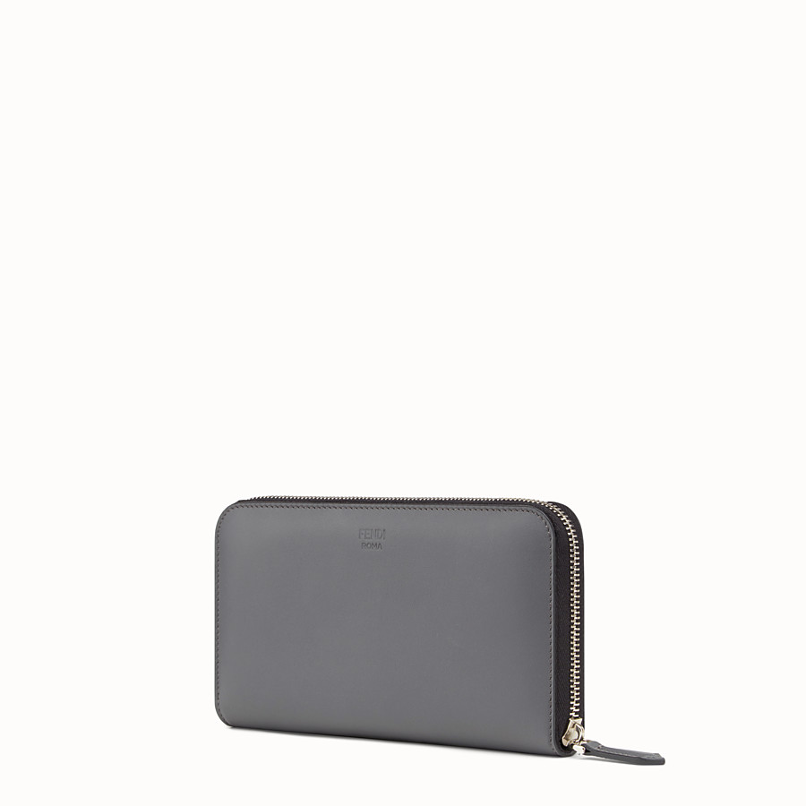 FENDI WALLET - Grey leather wallet - view 2 detail