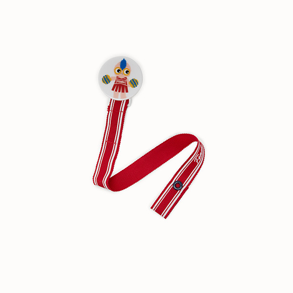FENDI BABY GIRL'S DUMMY CLIP - Dummy clip in red fabric - view 1 small thumbnail