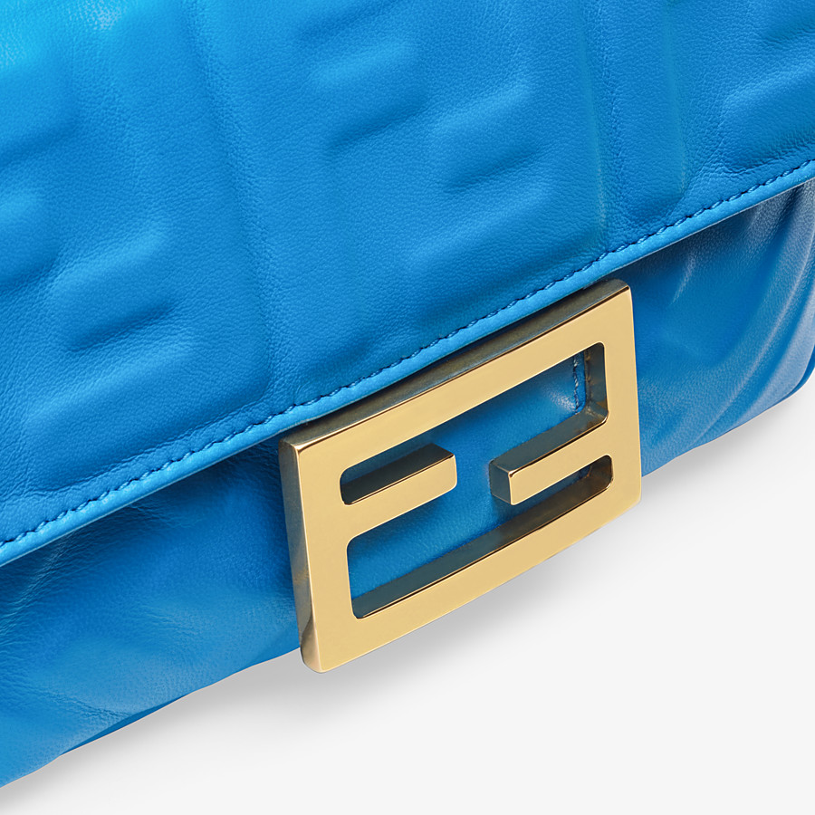 FENDI BAGUETTE - Blue leather minibag - view 5 detail