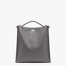 FENDI PEEKABOO X-LITE FIT - Tasche aus Leder in Grau - view 4 thumbnail