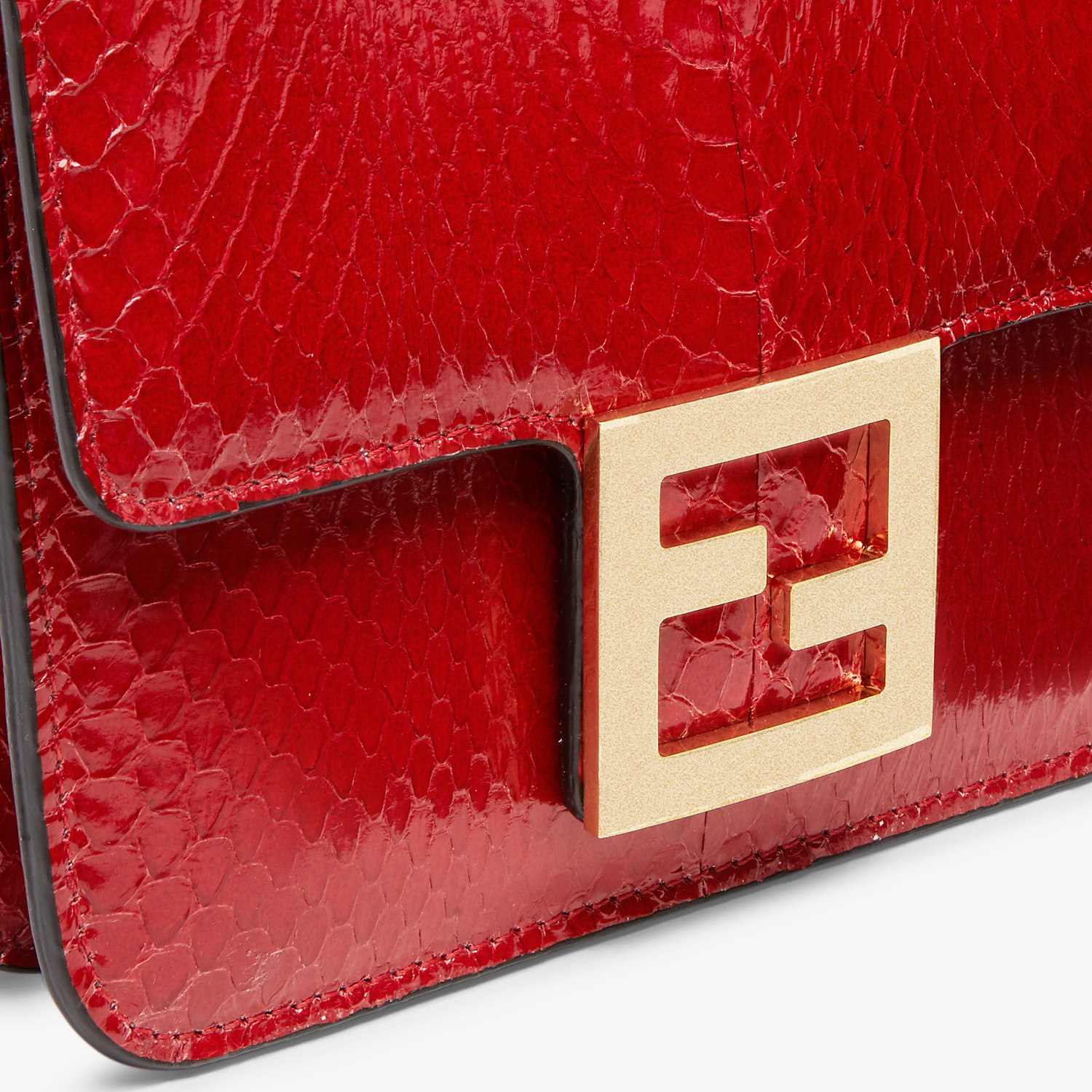 FENDI FENDI FAB - Bag in red elaphe - view 5 detail
