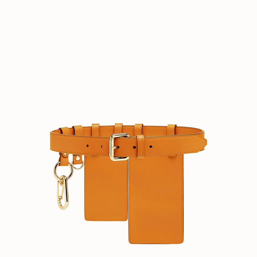 FENDI BELT - Orange leather belt - view 2 detail
