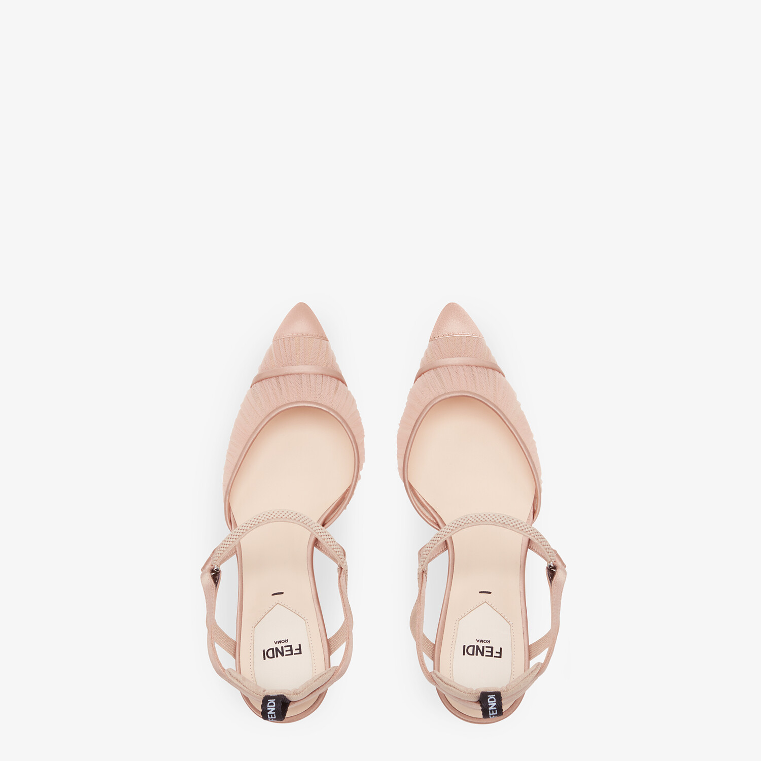 FENDI SLINGBACK - Pink tulle and satin Colibrì - view 4 detail
