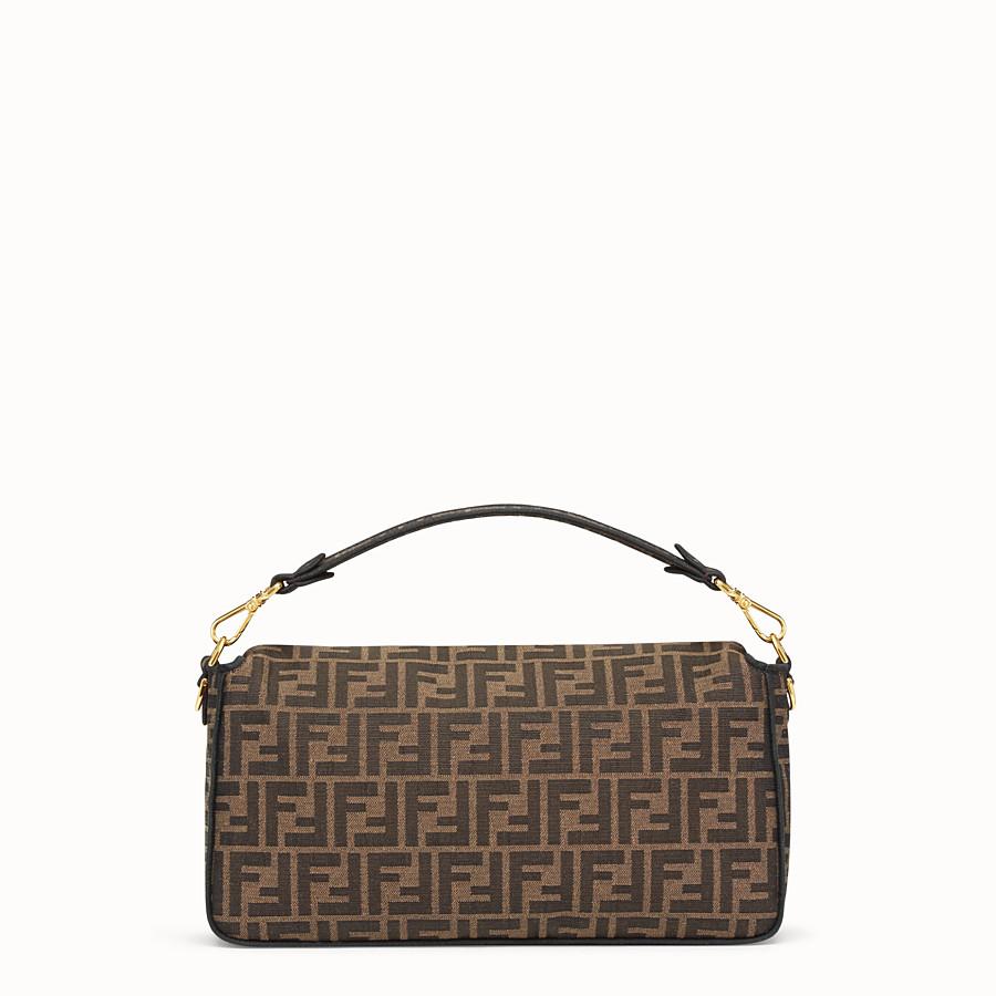 FENDI BAGUETTE LARGE - Brown fabric bag - view 3 detail