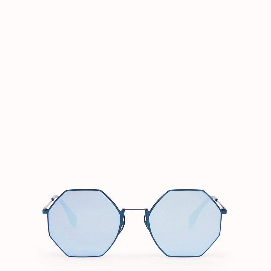 FENDI EYELINE - Blue sunglasses - view 1 detail