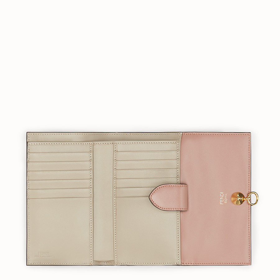 FENDI CONTINENTAL MEDIUM - Pink leather wallet - view 5 detail