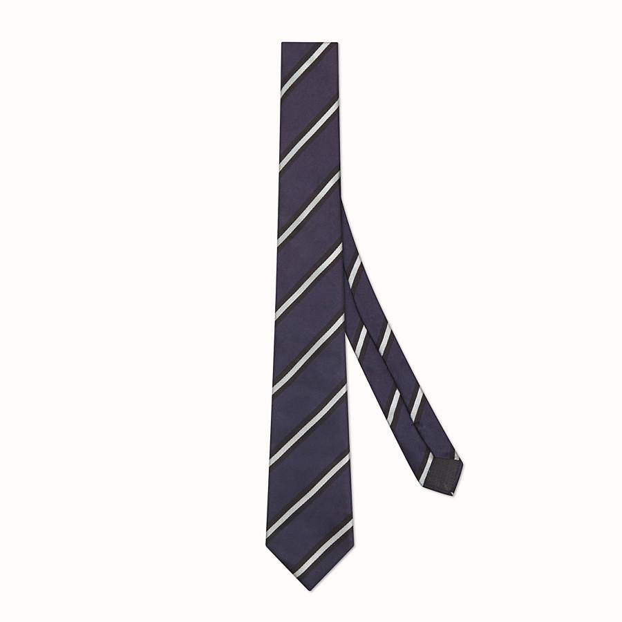 FENDI CRAVATTA - Cravatta in seta blu - vista 1 dettaglio