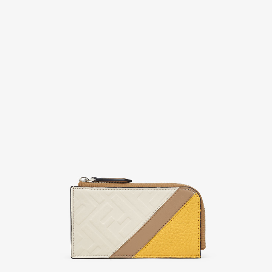 FENDI COIN PURSE - White leather pouch - view 1 detail